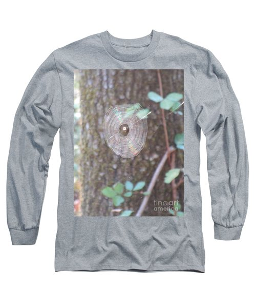Long Sleeve T-Shirt featuring the photograph Spider In The Round by Marie Neder