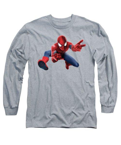 Spider Man Splash Super Hero Series Long Sleeve T-Shirt