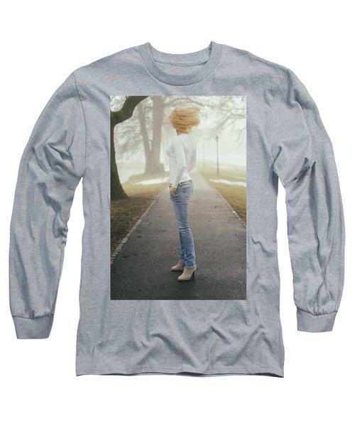 Spinning Long Sleeve T-Shirt by Robert Krajnc
