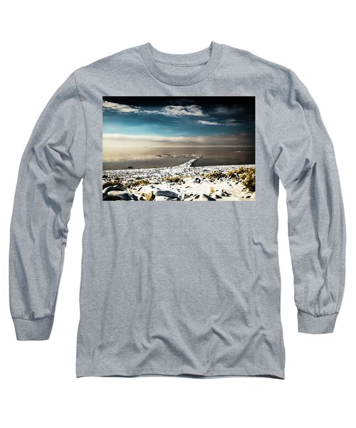 Spiral Jetty In Winter Long Sleeve T-Shirt