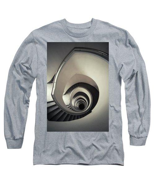 Spiral Staircase In Beige Tones Long Sleeve T-Shirt by Jaroslaw Blaminsky