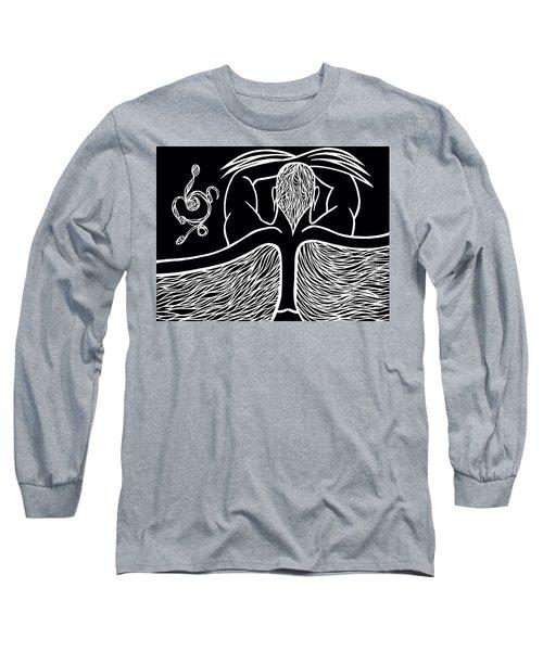Long Sleeve T-Shirt featuring the drawing Spirit II by Jamie Lynn