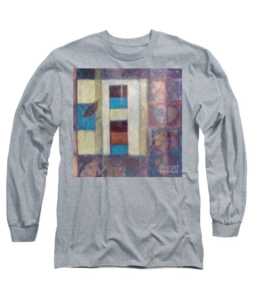Long Sleeve T-Shirt featuring the painting Spirit Of Gold - States Of Being by Kerryn Madsen- Pietsch
