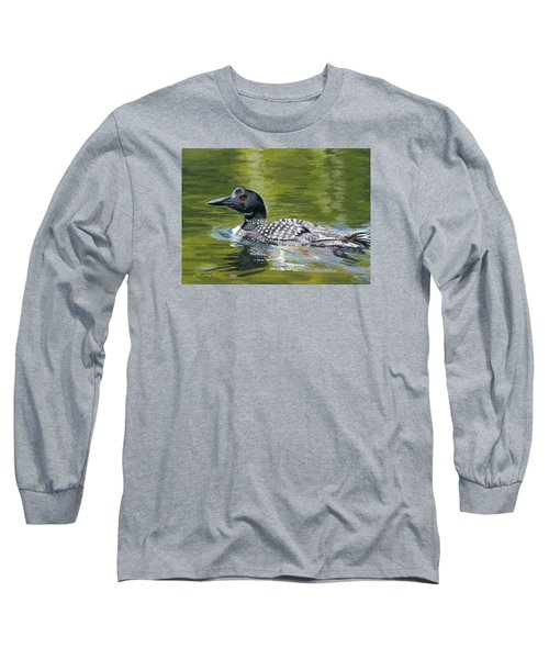 Long Sleeve T-Shirt featuring the painting Spirit Of The North by Lynne Reichhart