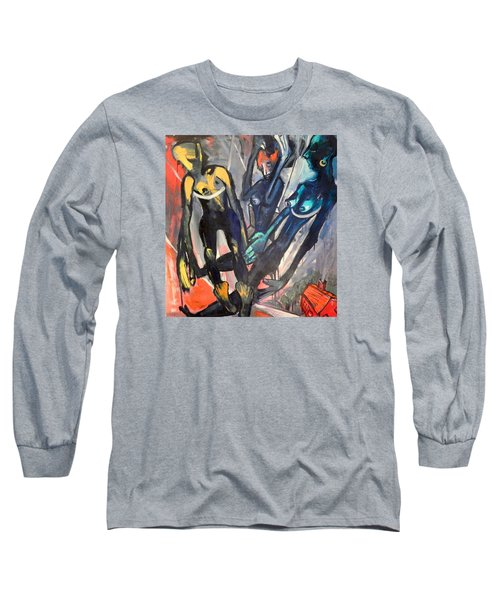 Spiritual Free-ride    Less Life's Loss Long Sleeve T-Shirt by Kenneth Agnello