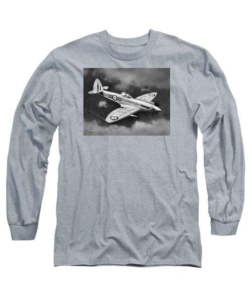 Spitfire Mark 22 Long Sleeve T-Shirt by Douglas Castleman