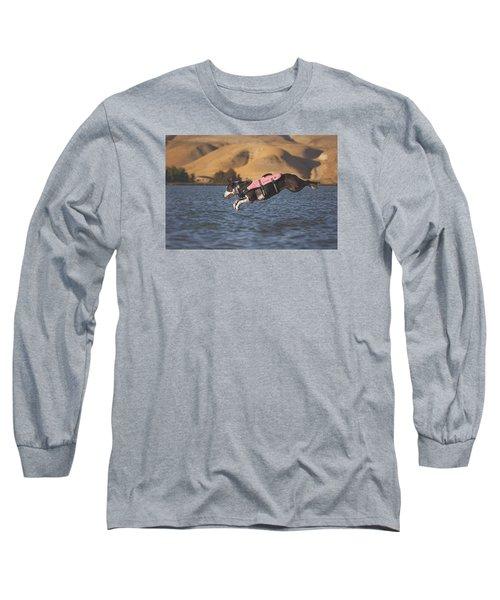 Splash In 3...2...1.... Long Sleeve T-Shirt by Brian Cross