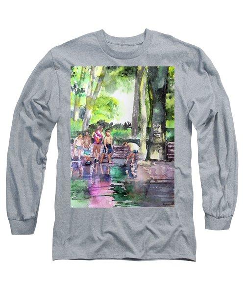 Splash In Battery Park Long Sleeve T-Shirt