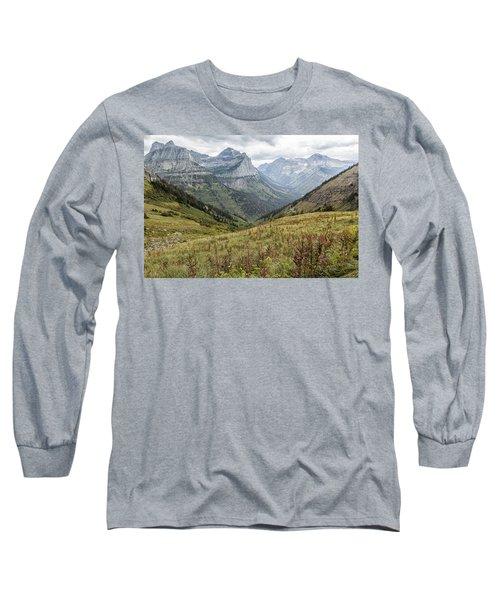 Splendor From Highline Trail - Glacier Long Sleeve T-Shirt