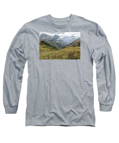 Splendor From Highline Trail - Glacier Long Sleeve T-Shirt
