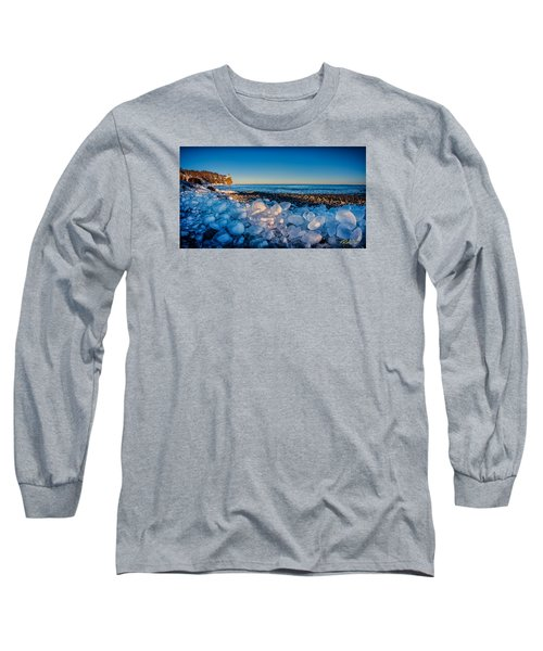 Split Rock Lighthouse With Ice Balls Long Sleeve T-Shirt