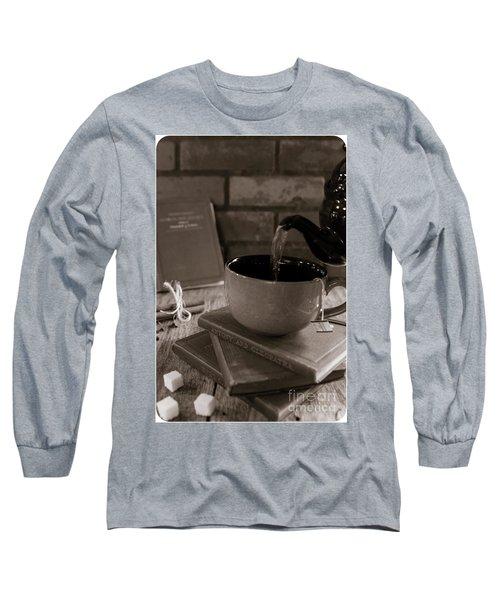 Long Sleeve T-Shirt featuring the photograph Spot Of Tea by Deborah Klubertanz
