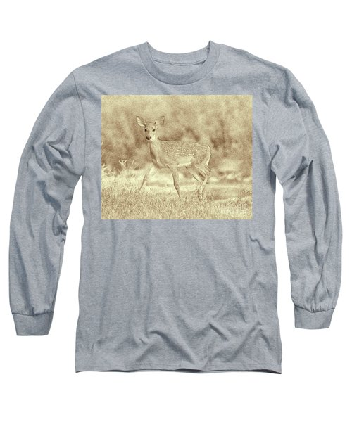 Spotted Fawn Long Sleeve T-Shirt by Jim Lepard
