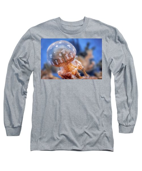 Spotted Lagoon Jellyfish Long Sleeve T-Shirt by Anthony Citro