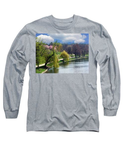 Spring At The Lake Long Sleeve T-Shirt by Judi Saunders