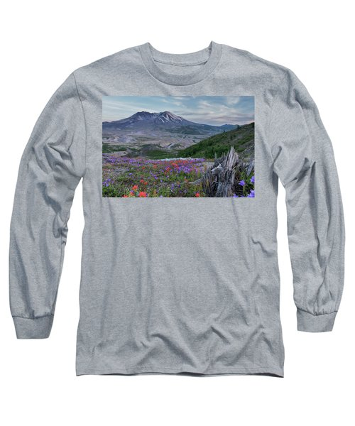 Spring Bloom Mt St Helens Long Sleeve T-Shirt