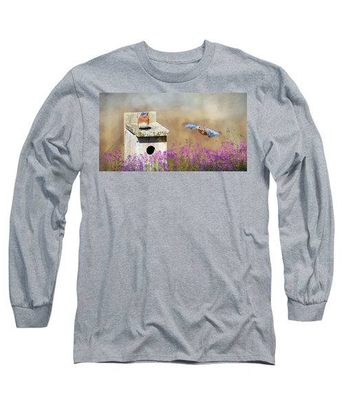 Long Sleeve T-Shirt featuring the photograph Spring Builders by Lori Deiter