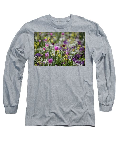 Spring Colors Long Sleeve T-Shirt by Eva Lechner