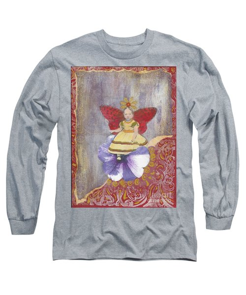 Long Sleeve T-Shirt featuring the mixed media Spring by Desiree Paquette