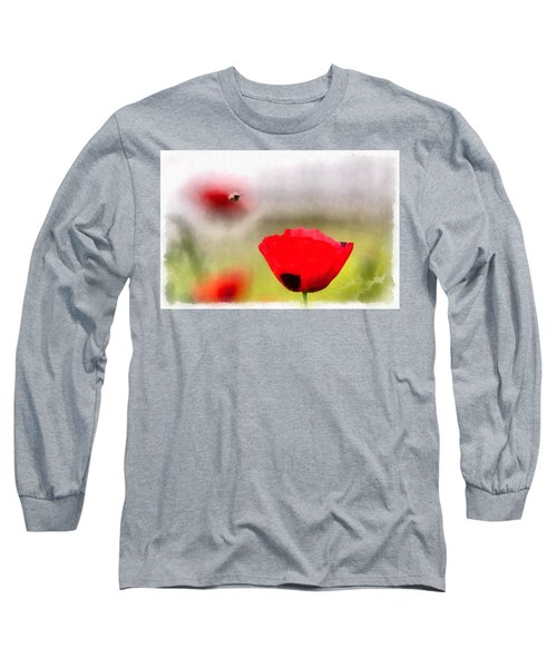 Spring Flowering Poppies Long Sleeve T-Shirt