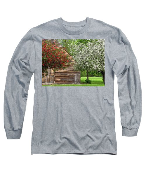 Spring Flowers And The Barn Long Sleeve T-Shirt