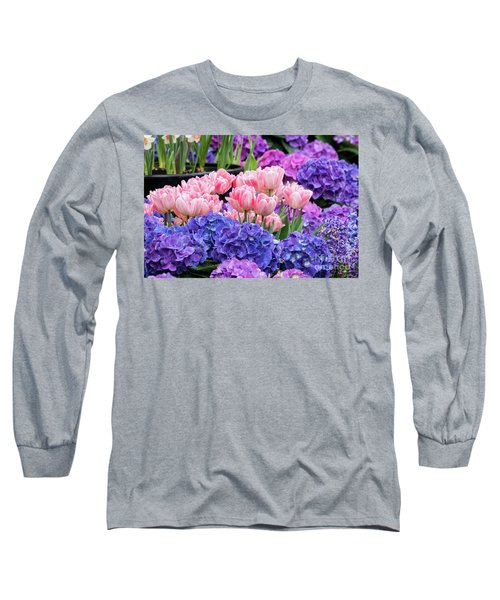 Spring Flowers Long Sleeve T-Shirt by Darleen Stry