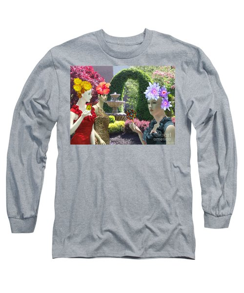 Spring In Bloom Long Sleeve T-Shirt by Lyric Lucas