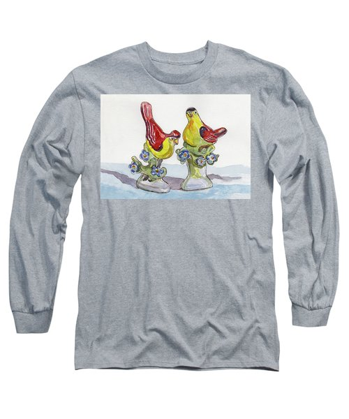 Spring Lovebirds Long Sleeve T-Shirt