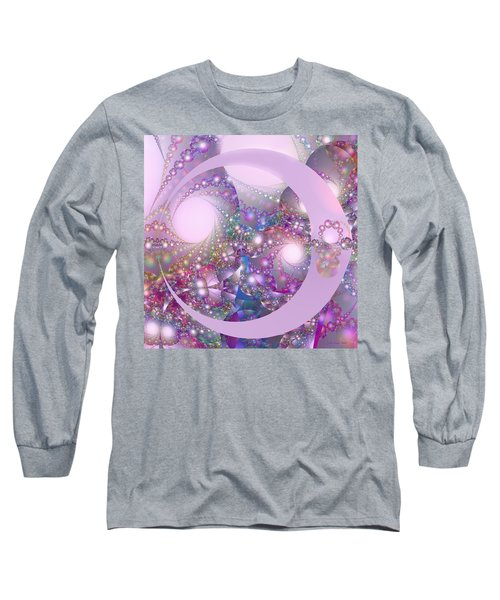 Spring Moon Bubble Fractal Long Sleeve T-Shirt