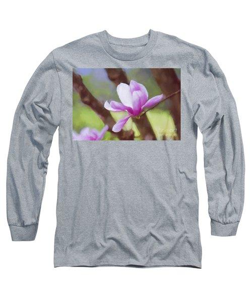 Spring Pink Saucer Magnolia Long Sleeve T-Shirt