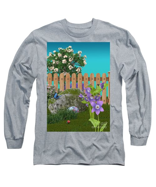 Long Sleeve T-Shirt featuring the digital art Spring Scene by Mary Machare