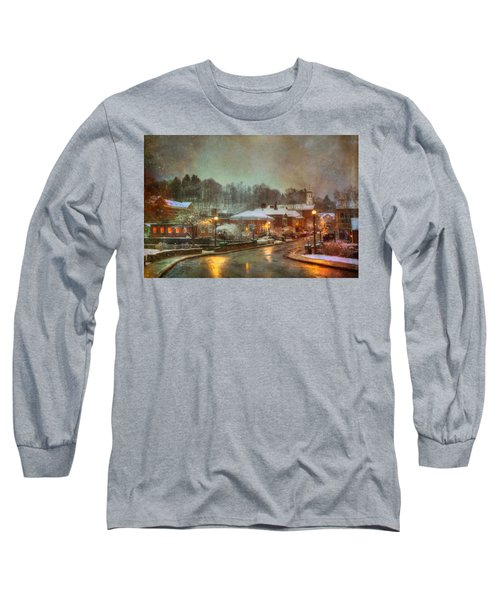 Spring Snow In Peterborough Nh Long Sleeve T-Shirt