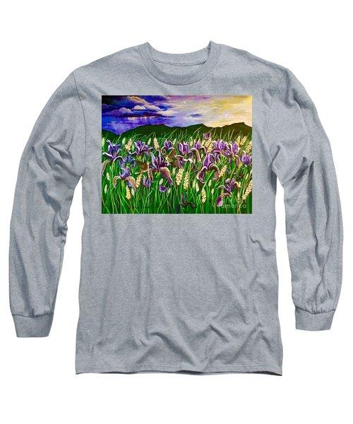 Spring Storm  Iris Fields Long Sleeve T-Shirt