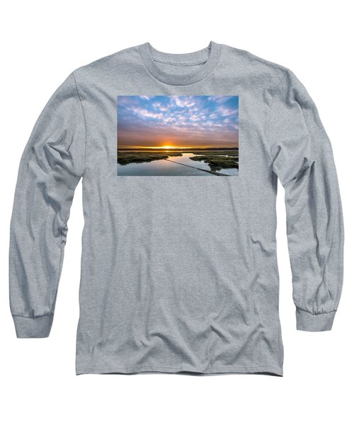 Spring Sunrise On Arcata Bay Long Sleeve T-Shirt