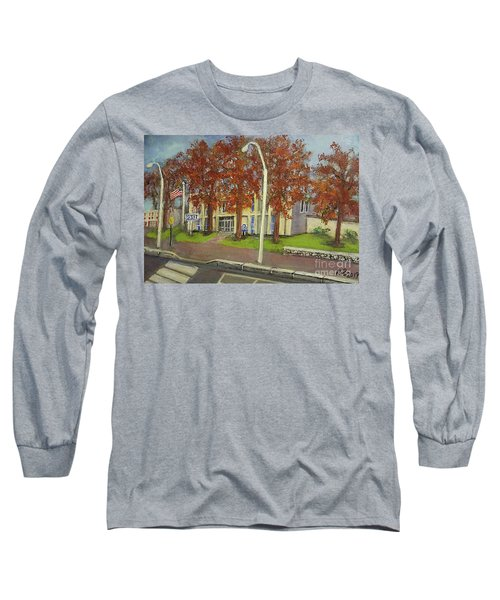 Springtime At Waltham Police Station Long Sleeve T-Shirt by Rita Brown