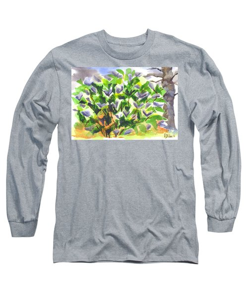 Long Sleeve T-Shirt featuring the painting Springtime Lilac Abstraction by Kip DeVore