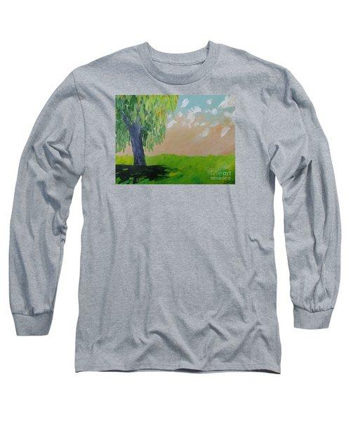 Springtime Willow Long Sleeve T-Shirt