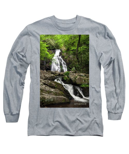 Long Sleeve T-Shirt featuring the photograph Spruce Flats Falls - D009919 by Daniel Dempster