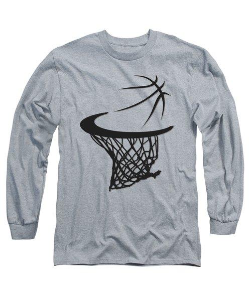 Spurs Basketball Hoop Long Sleeve T-Shirt