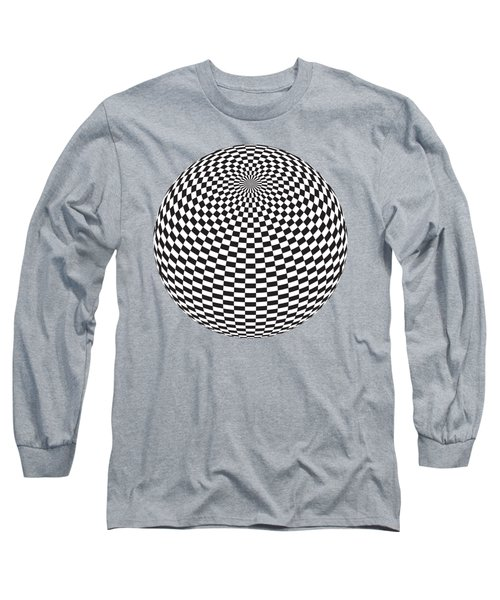 Squares On The Ball Long Sleeve T-Shirt by Michal Boubin