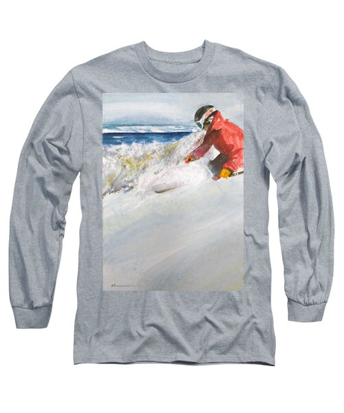 Long Sleeve T-Shirt featuring the painting Beaver Creak by Ed Heaton