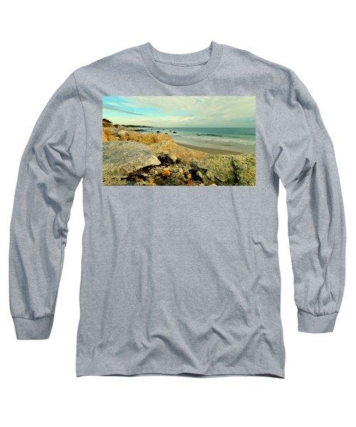 Squibby Cliffs And Mackerel Sky Long Sleeve T-Shirt