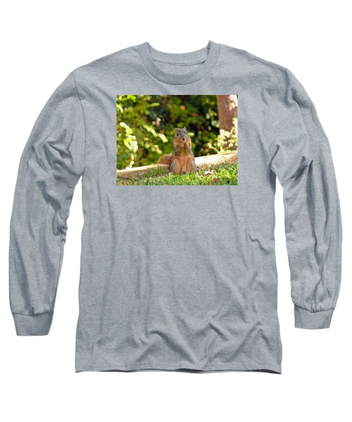 Squirrel On A Log Long Sleeve T-Shirt