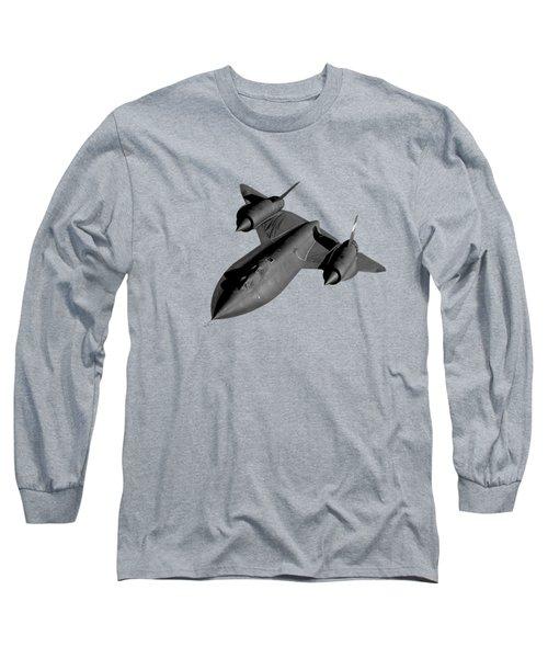 Sr-71 Blackbird Flying Long Sleeve T-Shirt