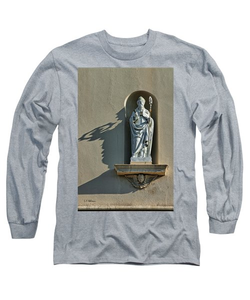St. Augustine Of Hippo Long Sleeve T-Shirt by Christopher Holmes