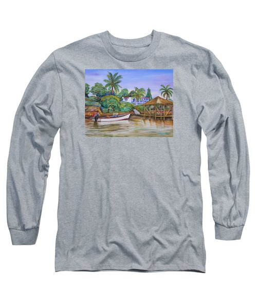 St. George Harbor Long Sleeve T-Shirt by Patricia Piffath