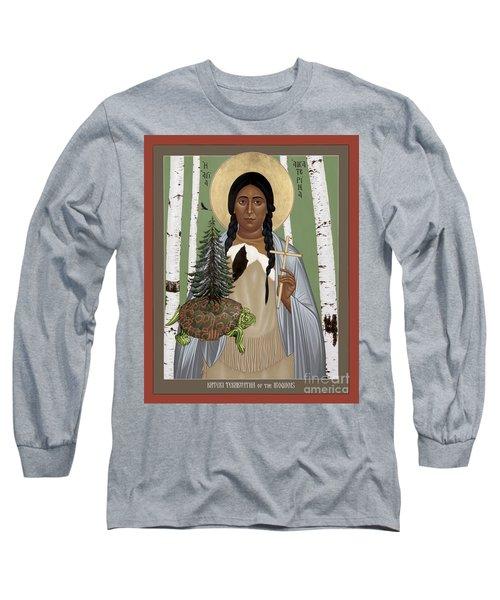 St. Kateri Tekakwitha Of The Iroquois - Rlktk Long Sleeve T-Shirt