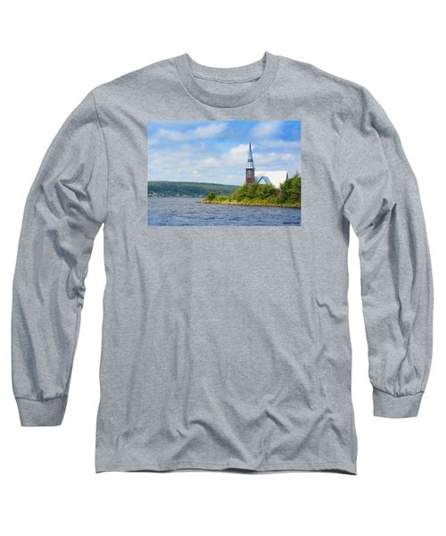 St Marks In Middle Lahave Nova Scotia Long Sleeve T-Shirt by Ken Morris