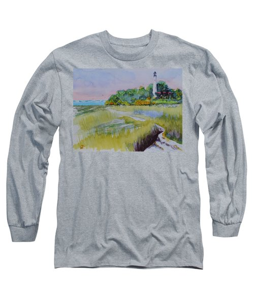 St. Marks Lighthouse Beachfront Long Sleeve T-Shirt