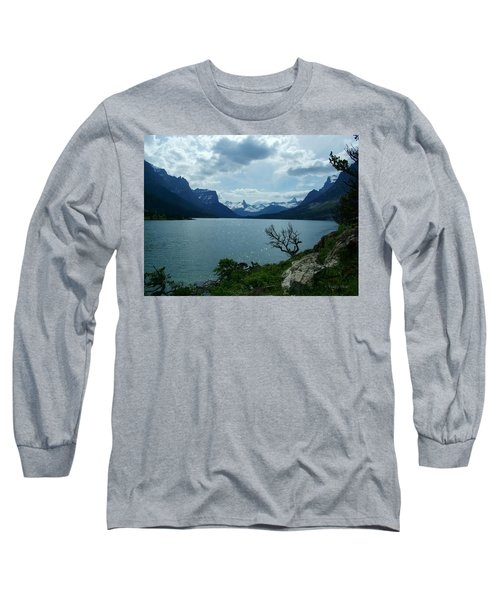 St Mary Lake, Incoming Storm Long Sleeve T-Shirt